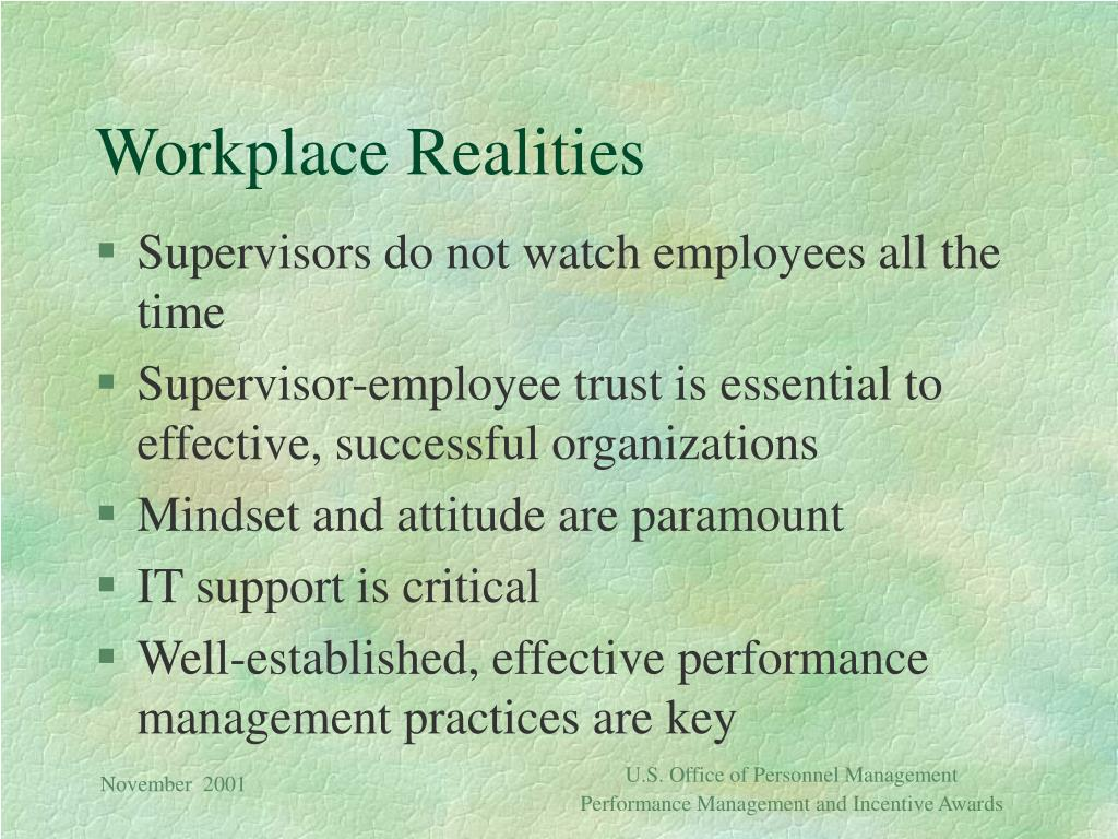 Workplace Realities