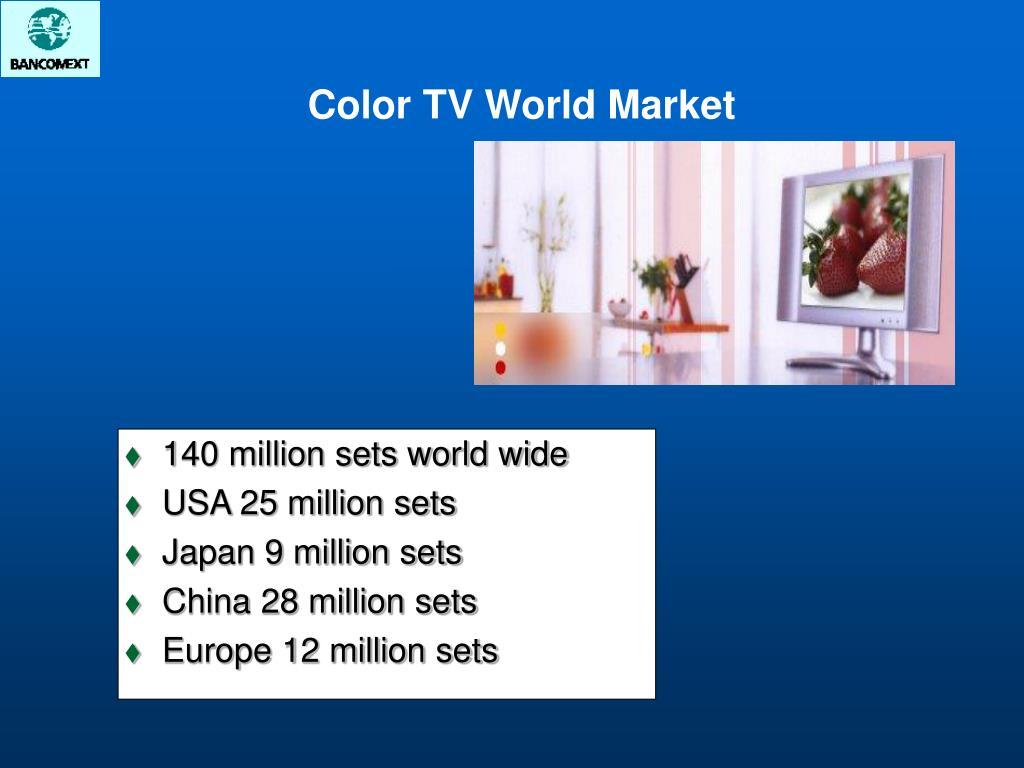 140 million sets world wide
