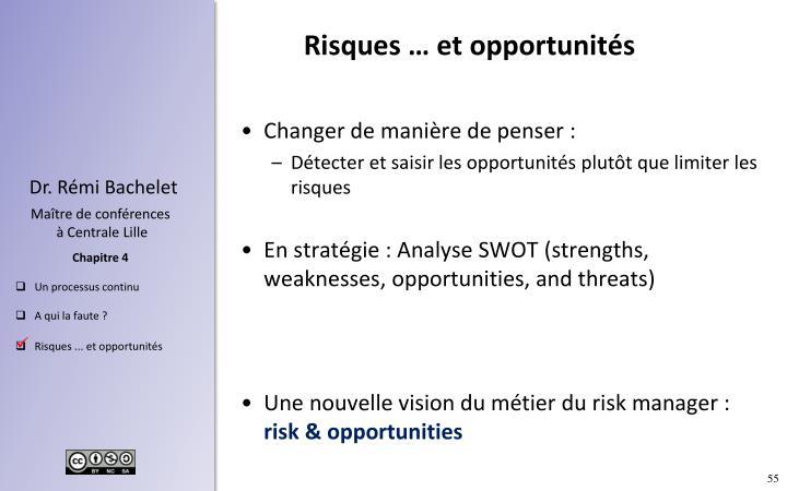 Risques … et opportunités