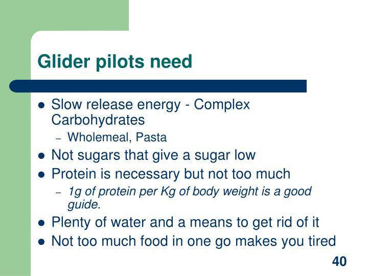 Glider pilots need