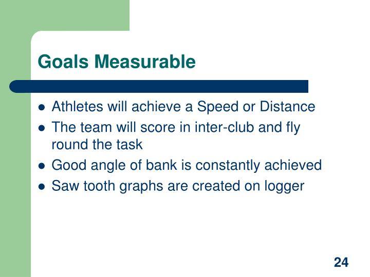 Goals Measurable