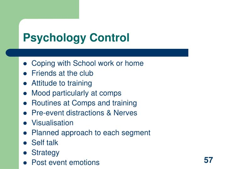 Psychology Control