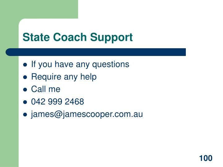 State Coach Support