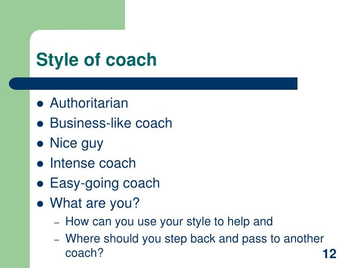 Style of coach