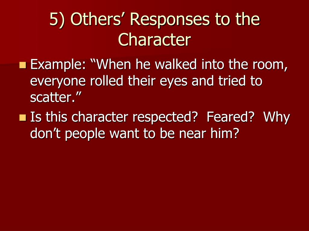 5) Others' Responses to the Character