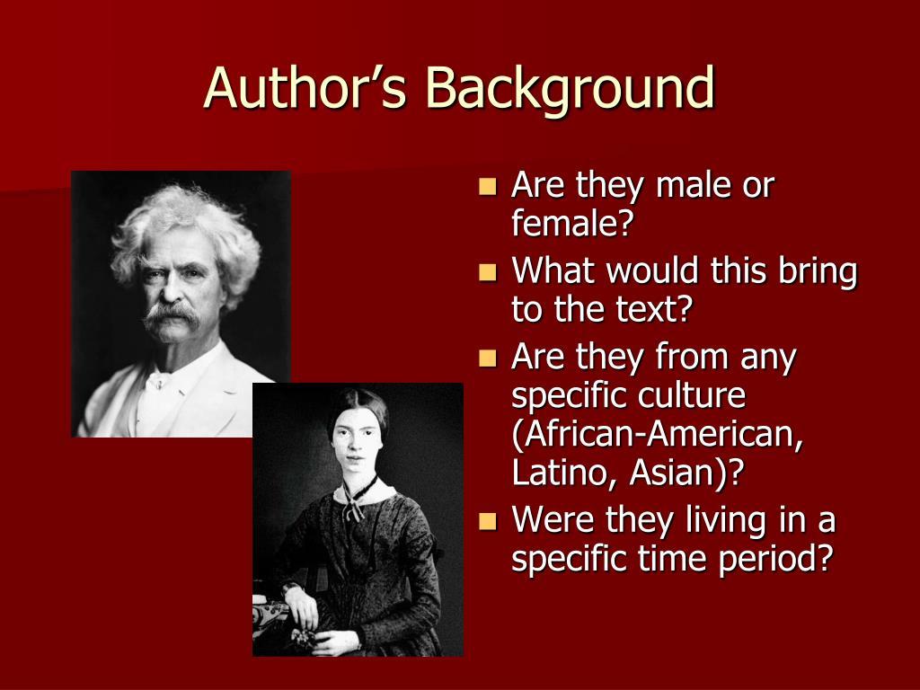 Author's Background