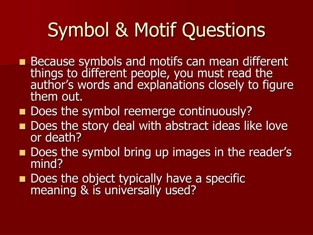 Symbol & Motif Questions