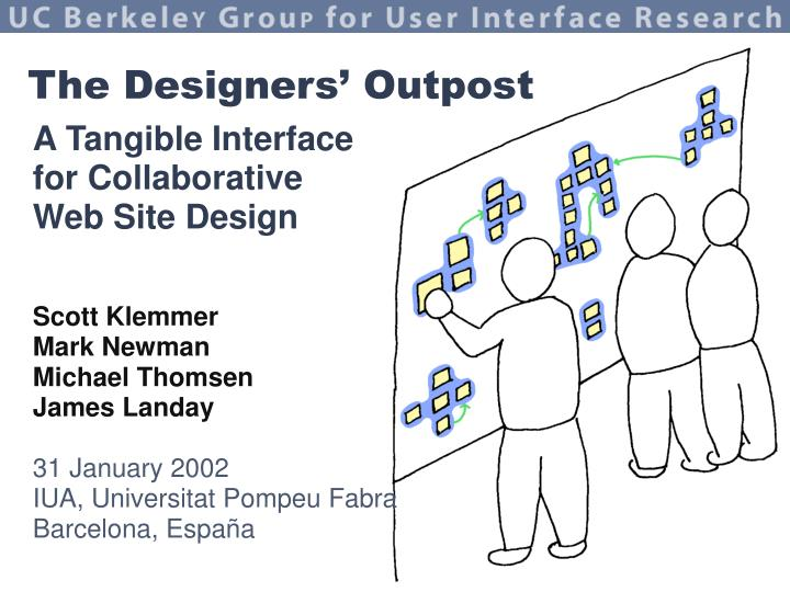 A tangible interface for collaborative web site design