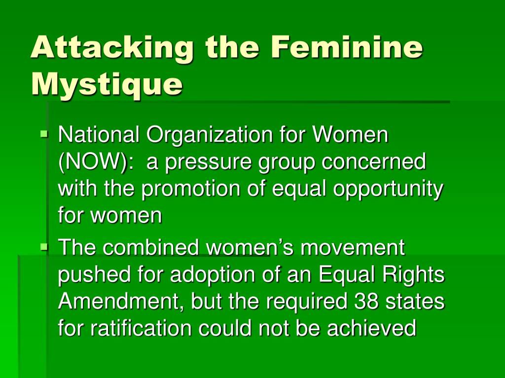 Attacking the Feminine Mystique