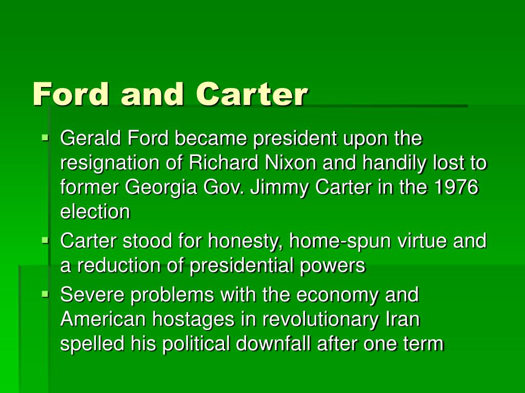 Ford and Carter