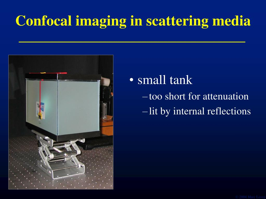Confocal imaging in scattering media