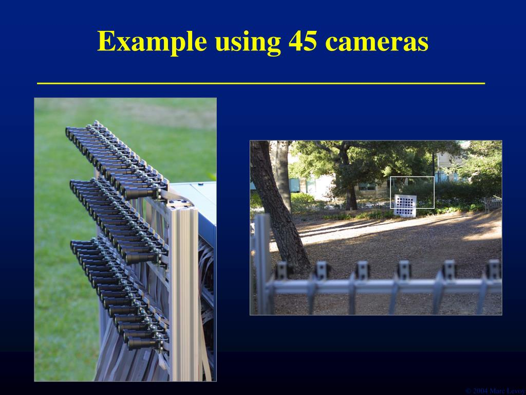 Example using 45 cameras