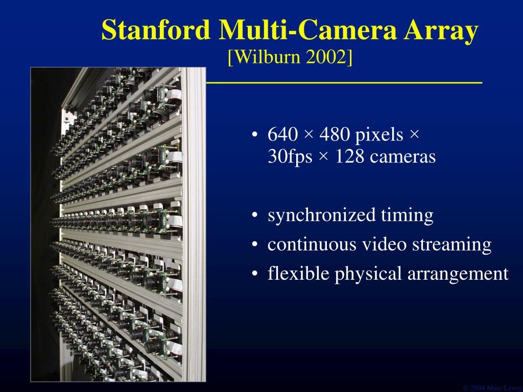 Stanford Multi-Camera Array