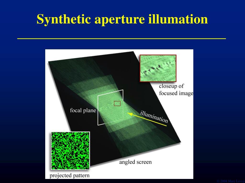 Synthetic aperture illumation