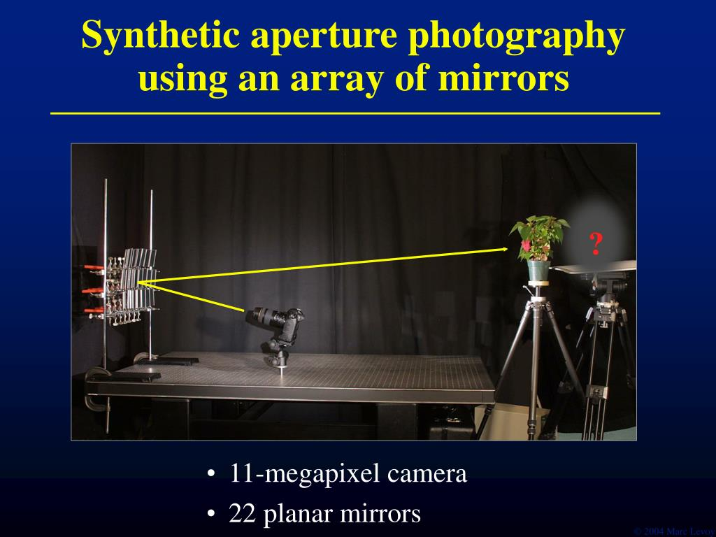 Synthetic aperture photography