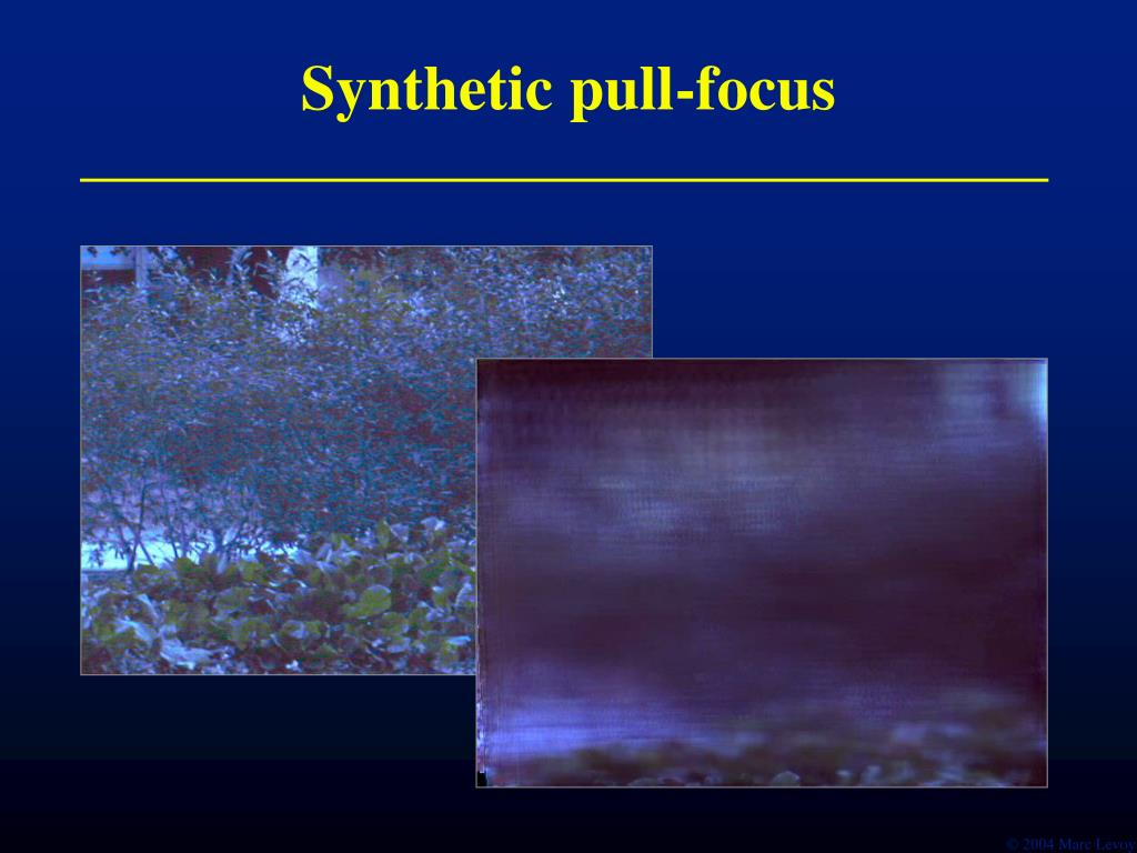 Synthetic pull-focus