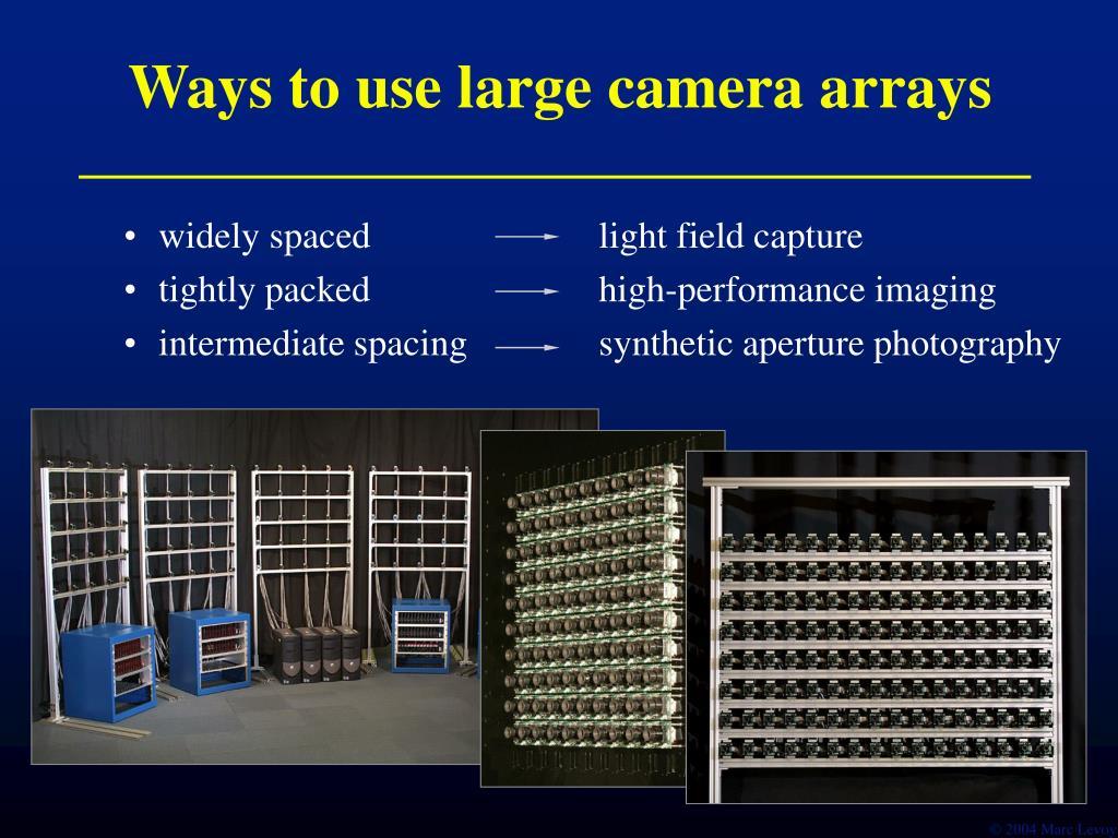 Ways to use large camera arrays