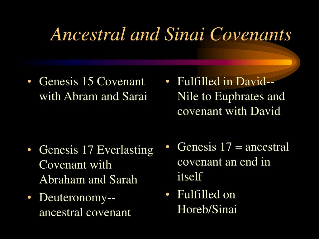 Genesis 15 Covenant with Abram and Sarai