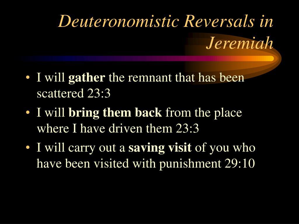 Deuteronomistic Reversals in Jeremiah