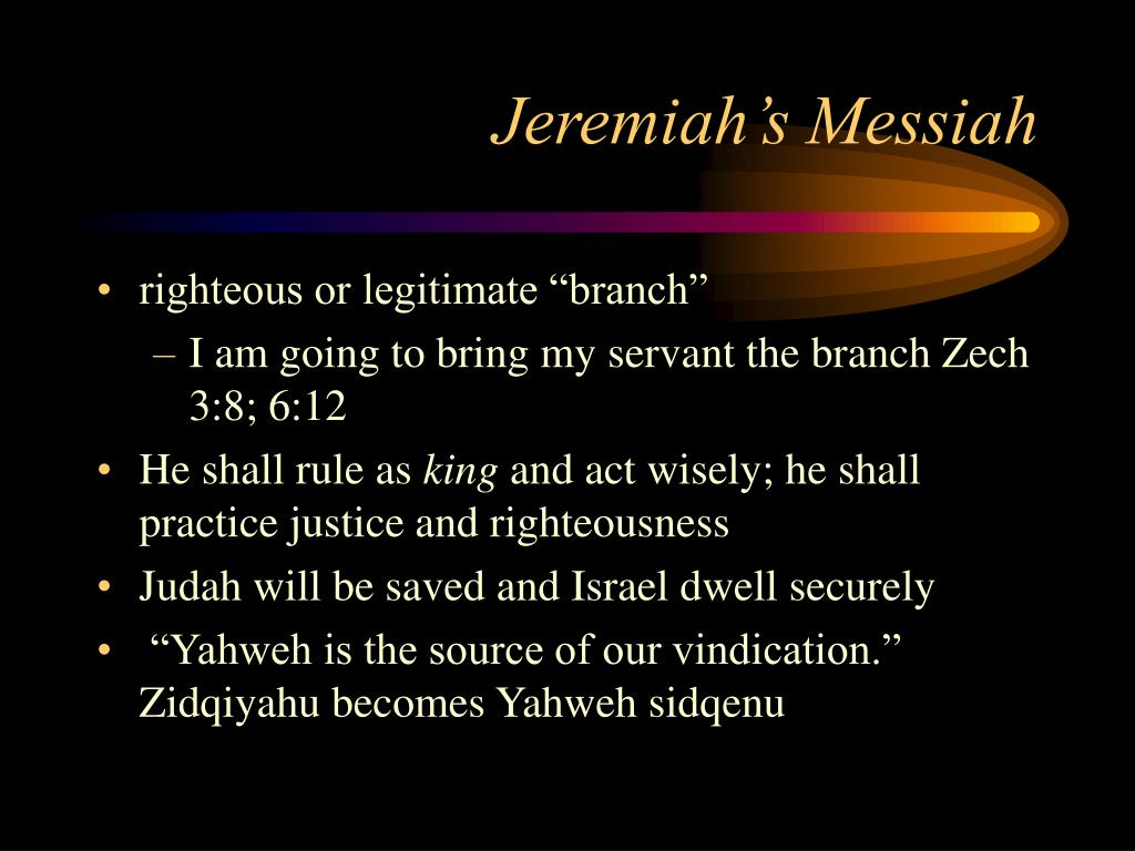 Jeremiah's Messiah