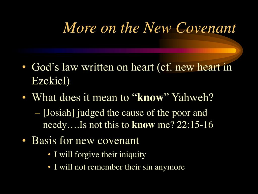 More on the New Covenant