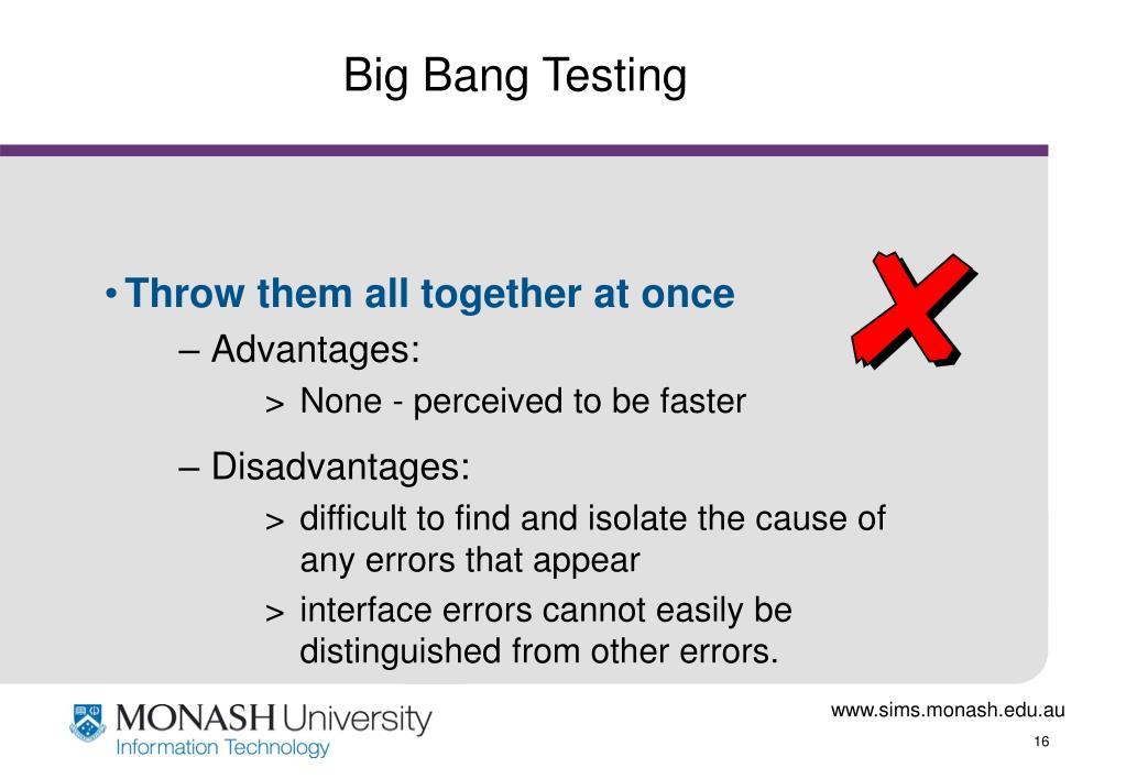 Big Bang Testing