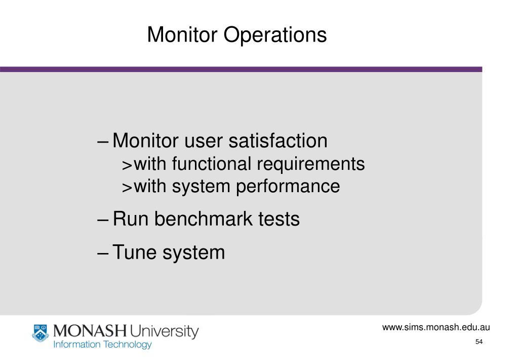 Monitor Operations