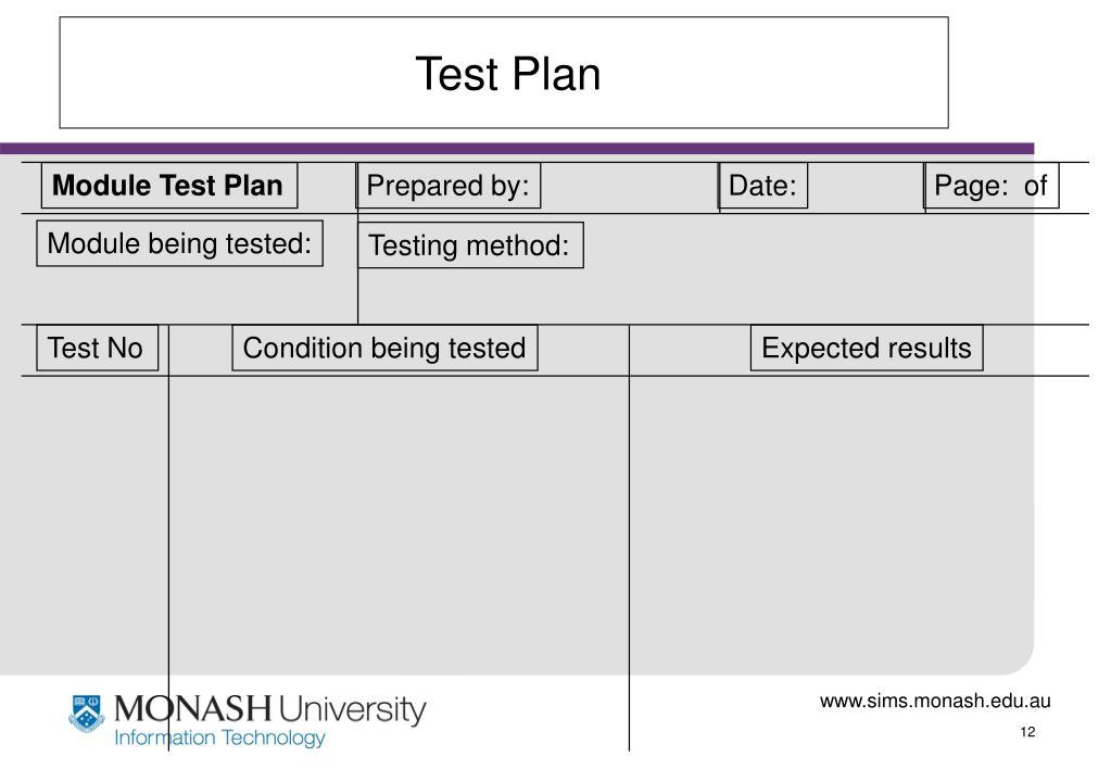 Test Plan
