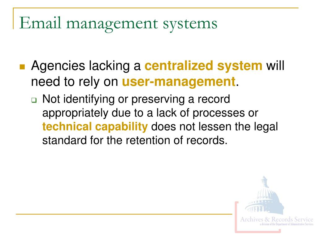 Email management systems