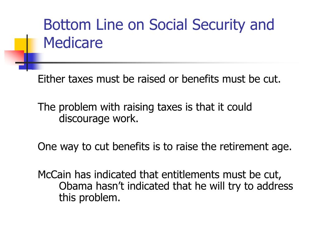 Bottom Line on Social Security and Medicare