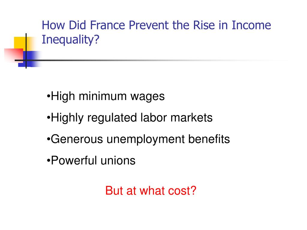 How Did France Prevent the Rise in Income Inequality?