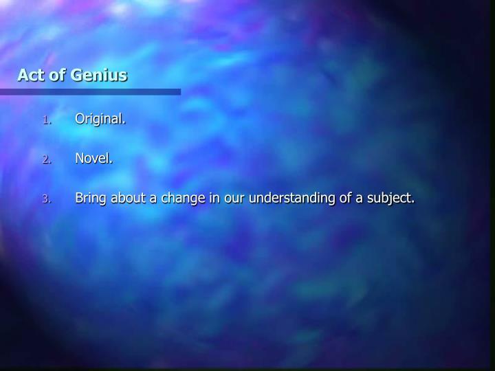 Act of Genius