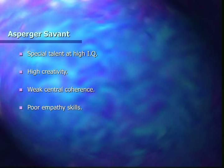 Asperger Savant