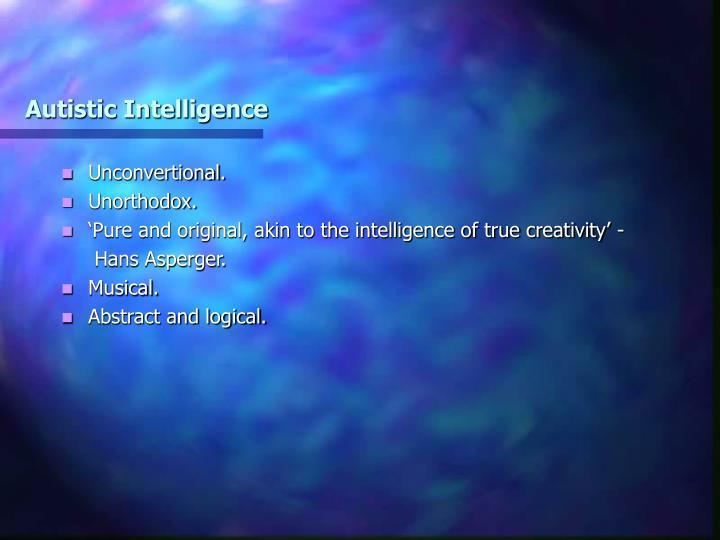 Autistic Intelligence