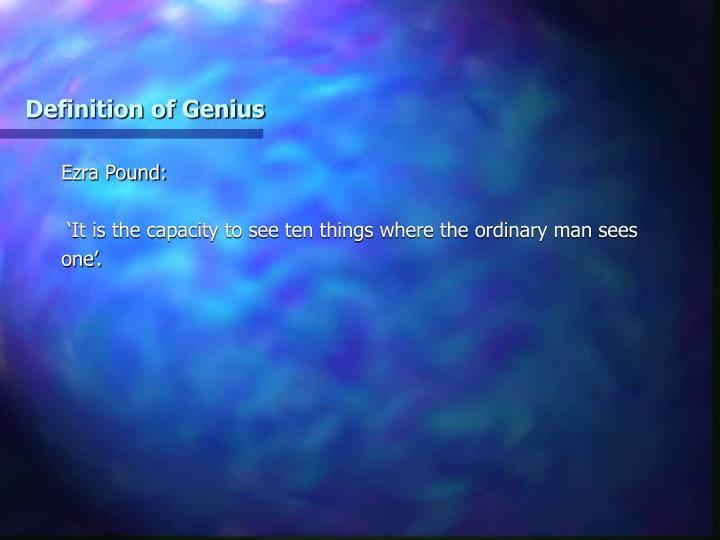 Definition of Genius