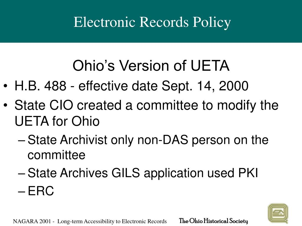 Electronic Records Policy