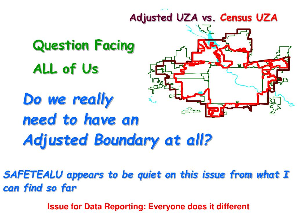 Adjusted UZA vs.
