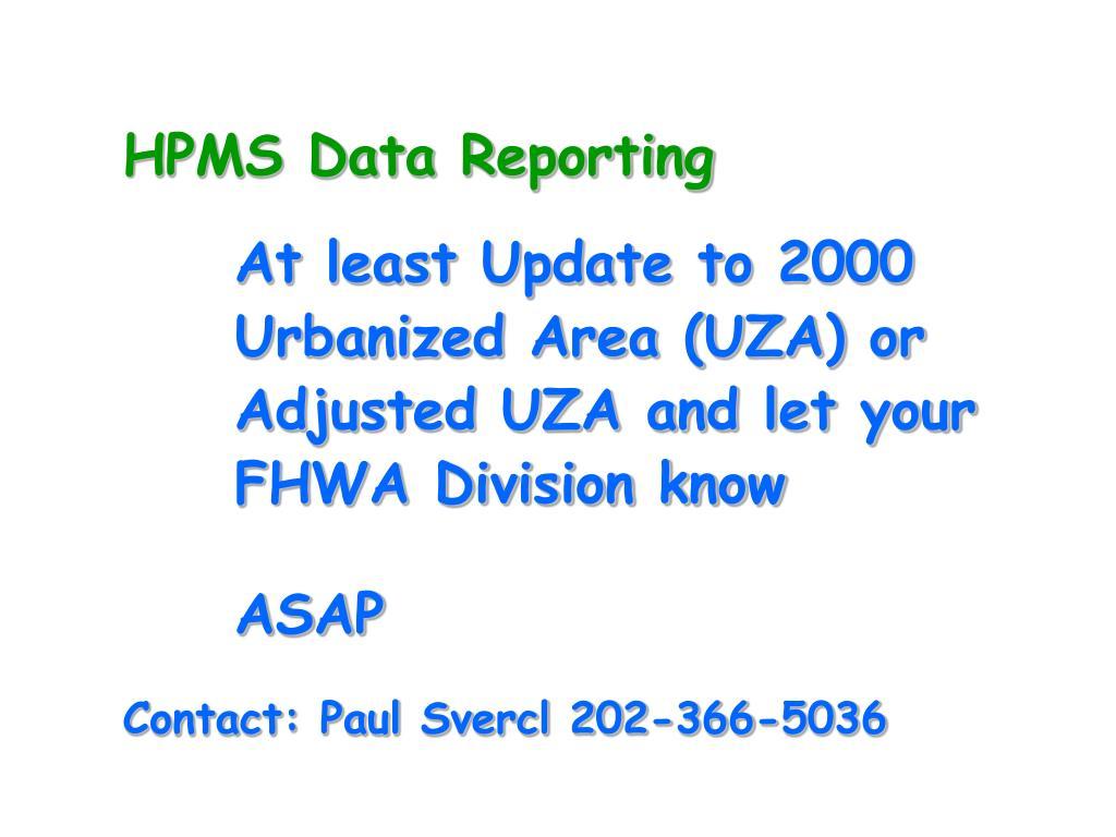 HPMS Data Reporting