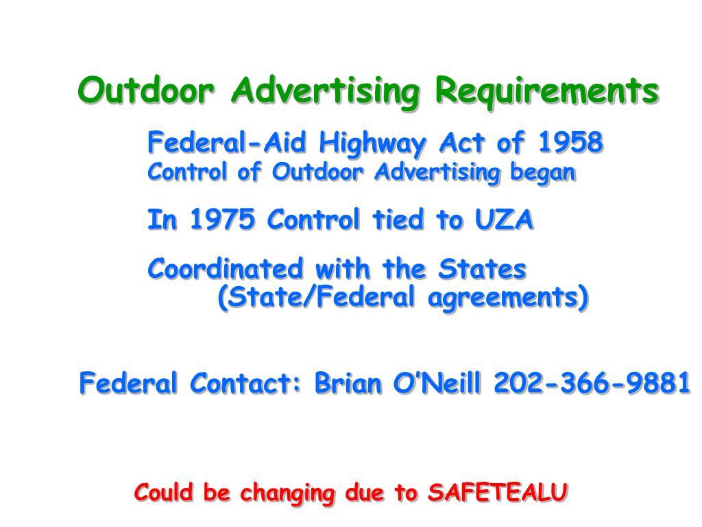 Outdoor Advertising Requirements