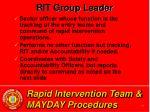 rapid intervention team mayday procedures15