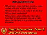 rapid intervention team mayday procedures25