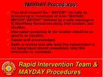 rapid intervention team mayday procedures30