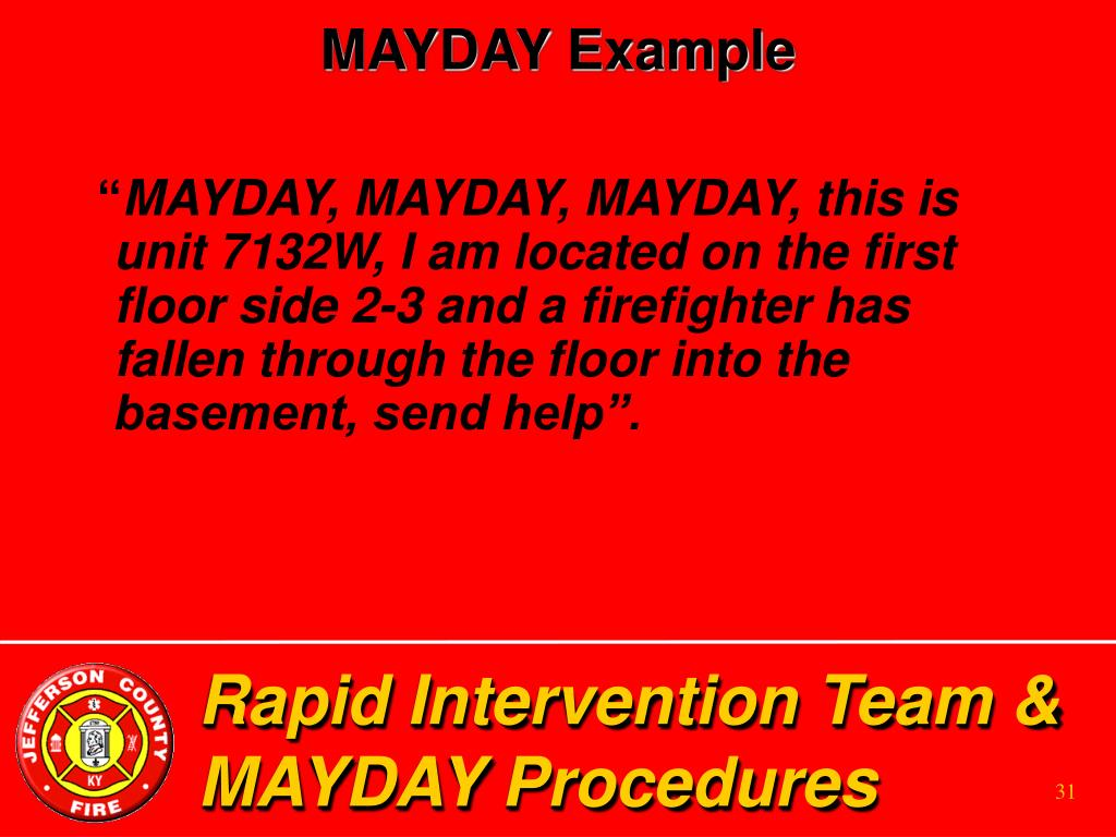 MAYDAY Example