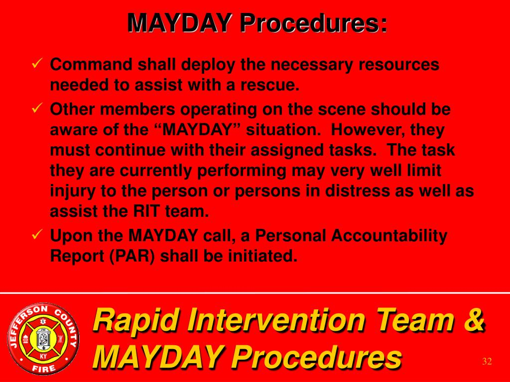 MAYDAY Procedures: