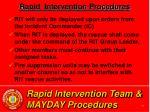 rapid intervention team mayday procedures33