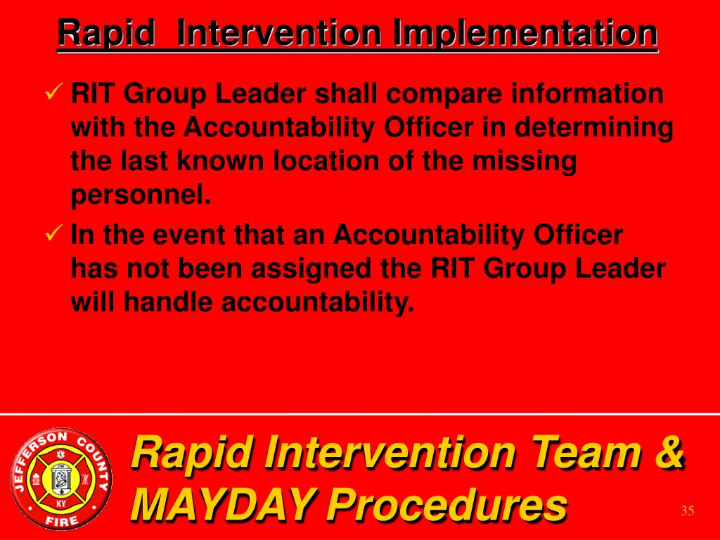 Rapid  Intervention Implementation