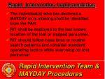 rapid intervention team mayday procedures36
