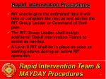 rapid intervention team mayday procedures40
