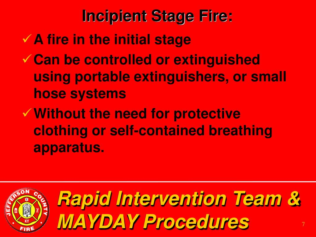 Incipient Stage Fire: