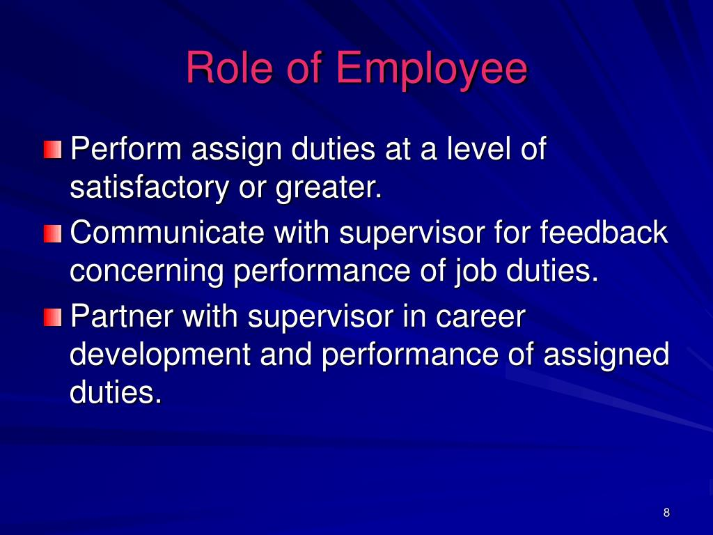 Role of Employee